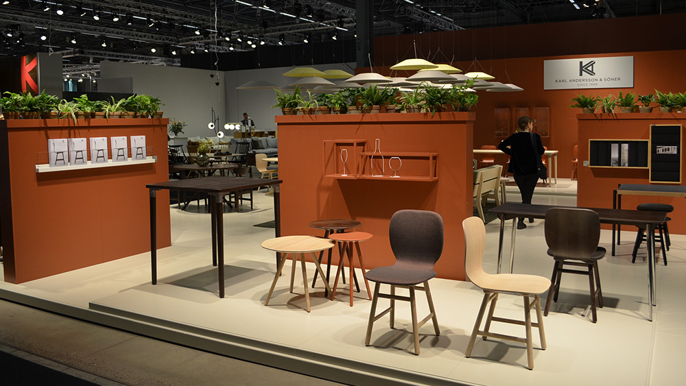 Karl andersson glimpse from our stand at stockholm for Chinese furniture fair 2018