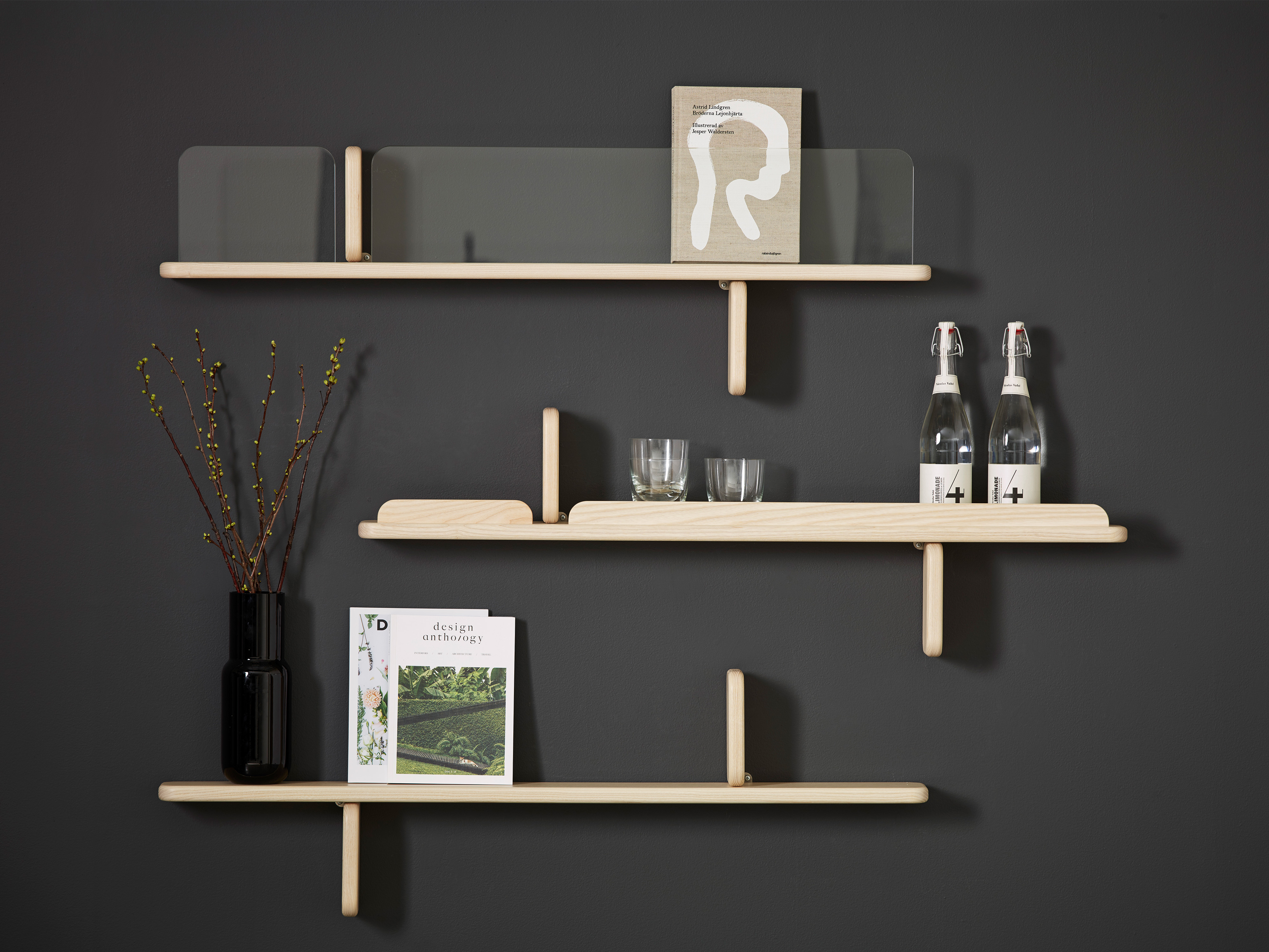 Part wall shelf display Karl Andersson Söner