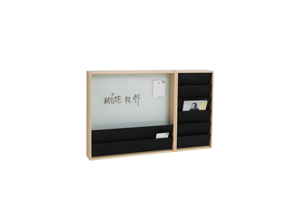 Ridå, Magazine display, Glass board, Whiteboard, Pinboard, Wall mounted, Display system, Karl Andersson Söner
