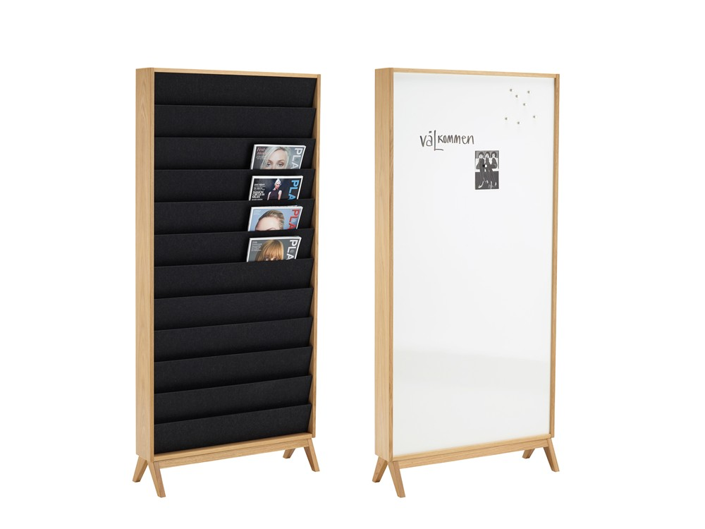 Ridå, Magazine display, Glass board, Whiteboard, Pinboard, Wall mounted, Display system, Karl Andersson & Söner