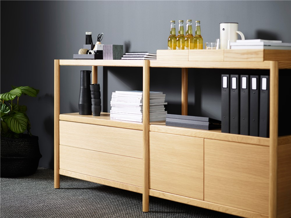 Cavetto, shelf, room divider, shelf without back, storage, cabinet, Karl Andersson Söner